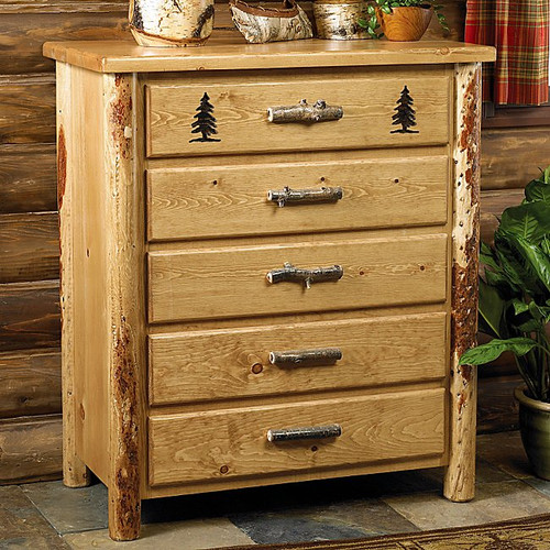 Rocky Mountain Log 5 Drawer Chest