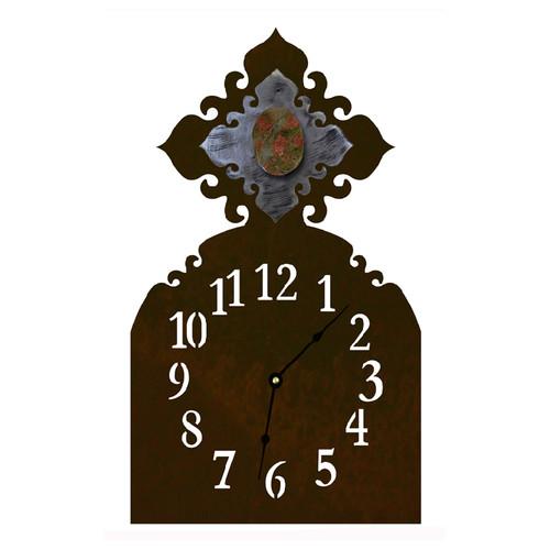 Unakite Table Clock