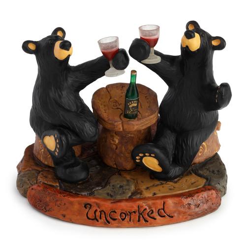 Uncorked Bears Figurine