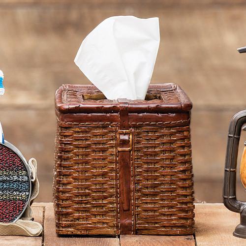 Vintage Camp Creel Tissue Box