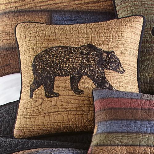 Vintage Woods Bear Pillow