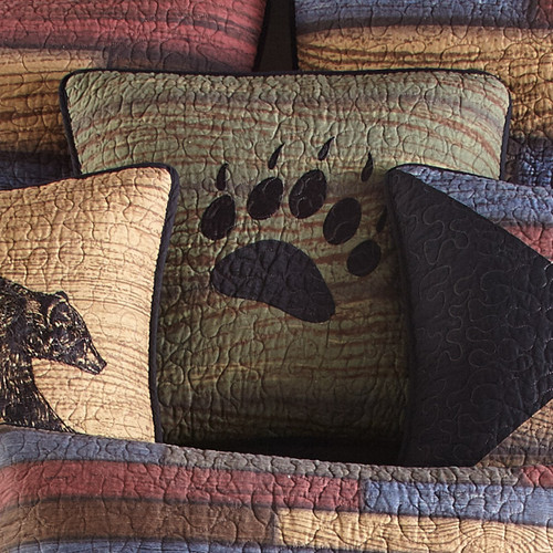 Vintage Woods Paw Pillow