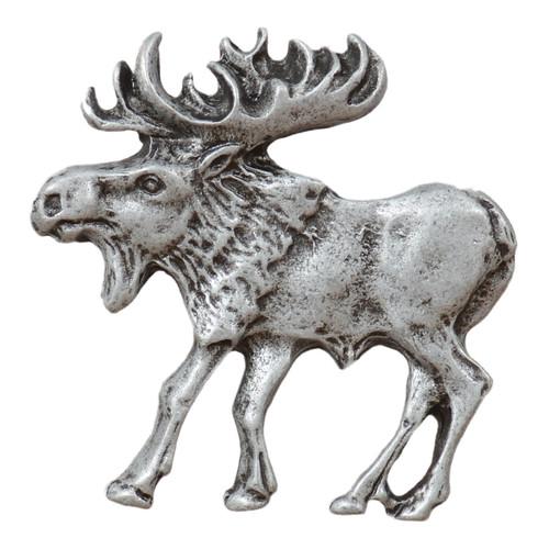 Walking Moose Cabinet Knob - Left Facing - Pewter