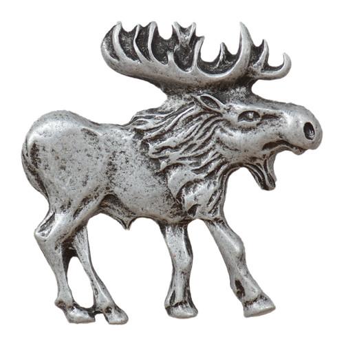 Walking Moose Cabinet Knob - Right Facing - Pewter