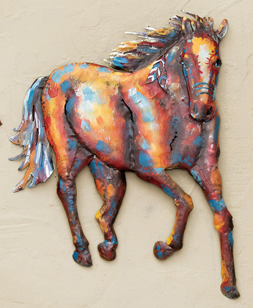 War Horse Metal Wall Art - Front - OVERSTOCK