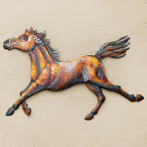 War Horse Metal Wall Art - Left Facing - OVERSTOCK