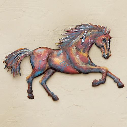 War Horse Metal Wall Art - Right Facing - OVERSTOCK
