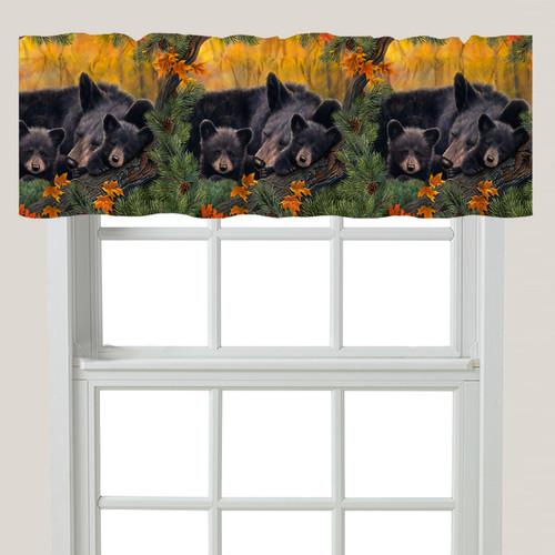 Warm Cozy Bears Window Valance