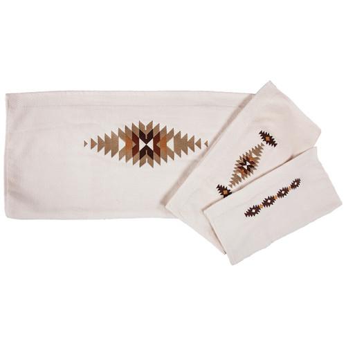 Washburn Embroidered Towel Set - Cream - OVERSTOCK