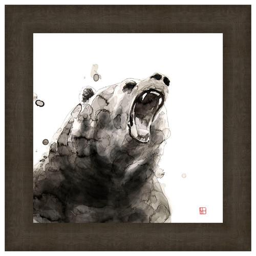 Watercolor Bear Framed Print