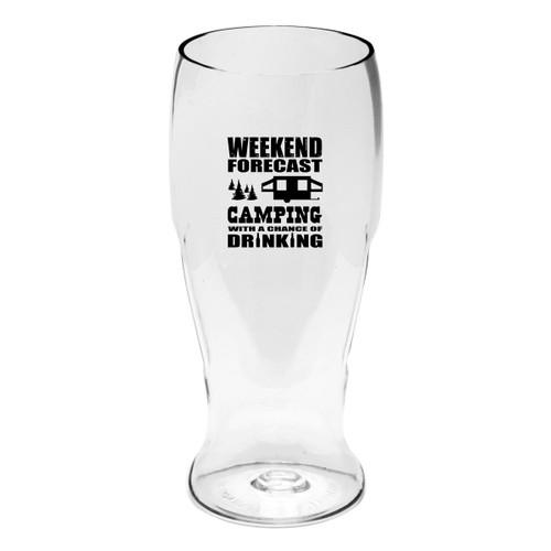 Weekend Forecast Beer Tumblers - Set of 4