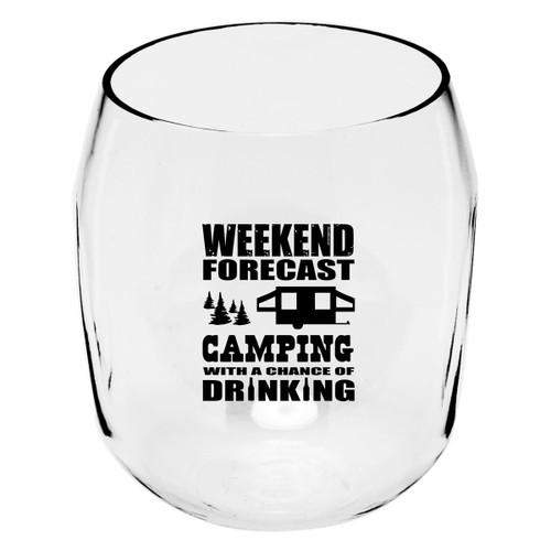 Weekend Forecast Wine Tumblers - Set of 4