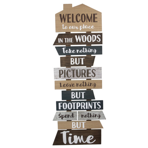 Welcome to the Woods Wall Sign