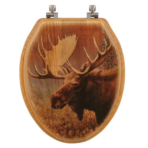 Chocolate Moose Wood Toilet Seat