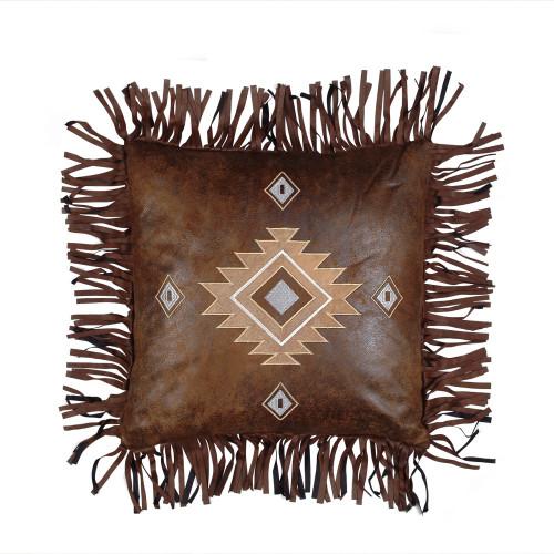 Fringed Diamond Pillow