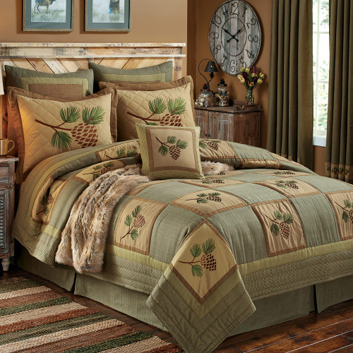 Pinecone Forest Quilt Bedding Collection