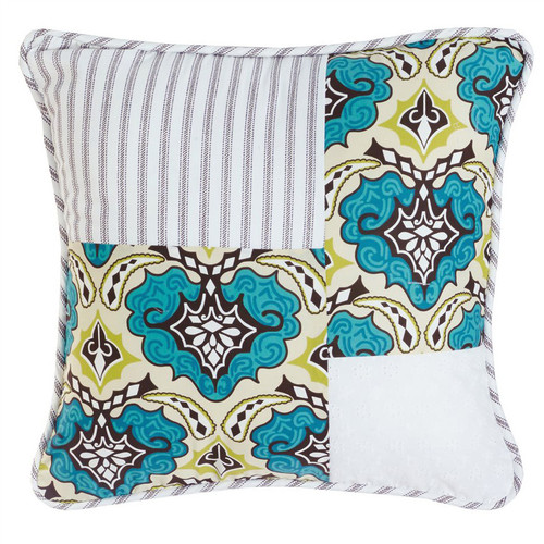 Western Spring Patchwork Pillow