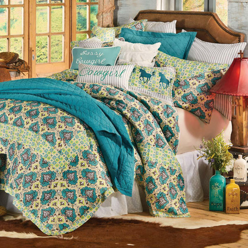 Western Spring Quilt Bed Set - Twin