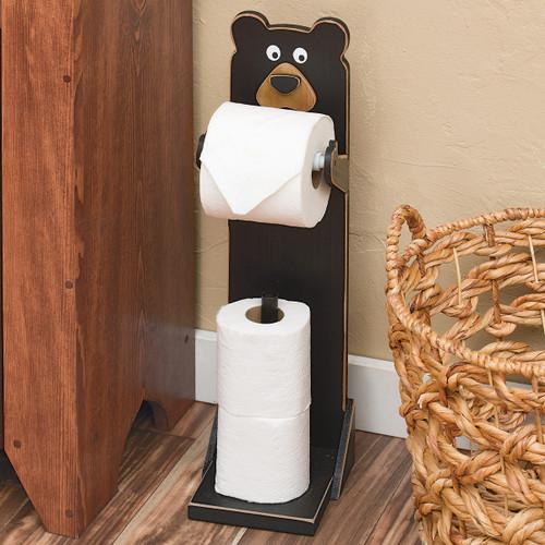 Whimsical Bear Standing Toilet Paper Holder
