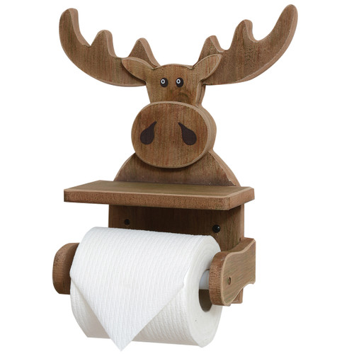 Whimsical Moose Wall Toilet Paper Holder