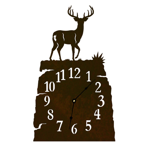 White Tail Deer Table Clock