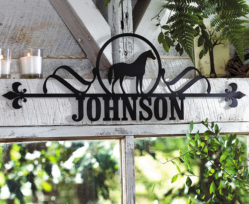 Customized Horse House Plaque