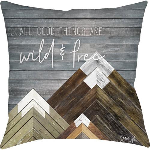 Wild & Free Outdoor Pillow