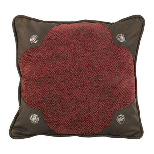 Wilderness Ridge Rust Concho Accent Pillow