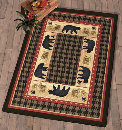 Bear Tracks Lodge Rug Collection