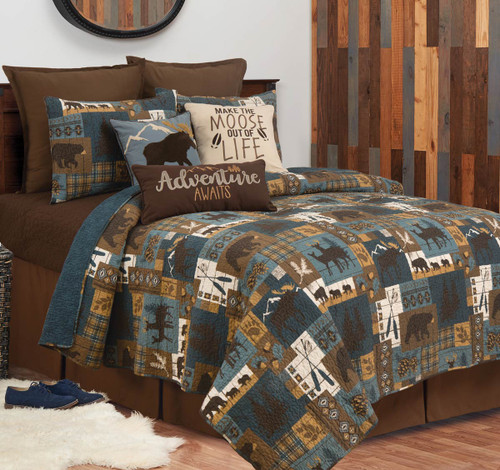 Wildlife Lakeside Trails Quilt Set - Twin