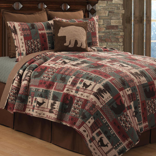 Wildlife Mountain Quilt Bed Set - Twin
