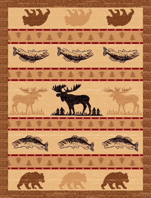 Wildlife Stripe Rug - 5 x 7