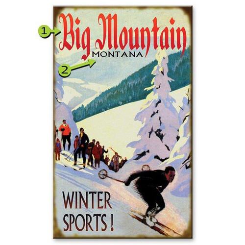 Winter Sports Ski Sign