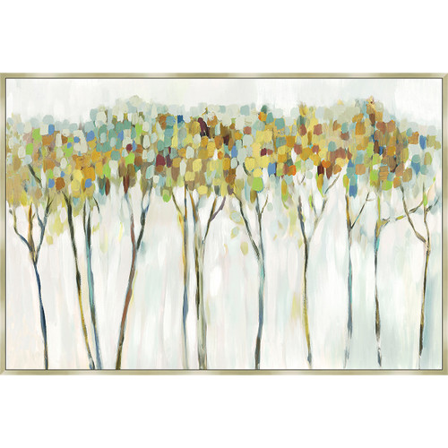 Wooded Forest Framed Canvas