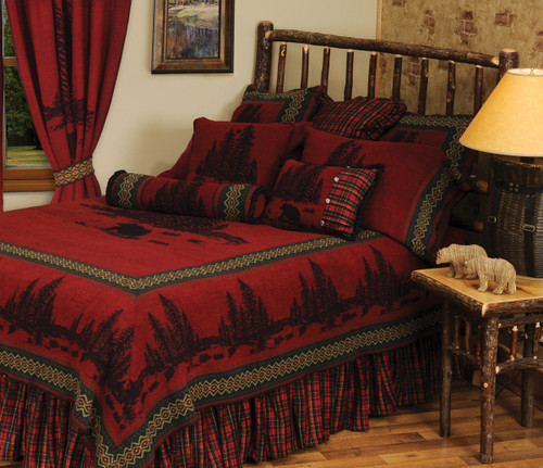 Wooded River Bear 5 Value Bed Set - Super Queen