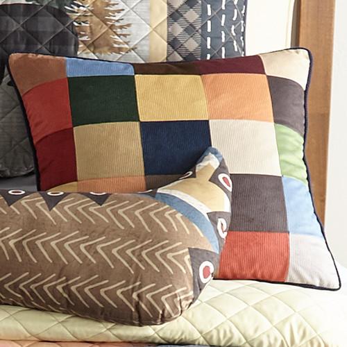 Woodland Bear Cabin Patch Pillow