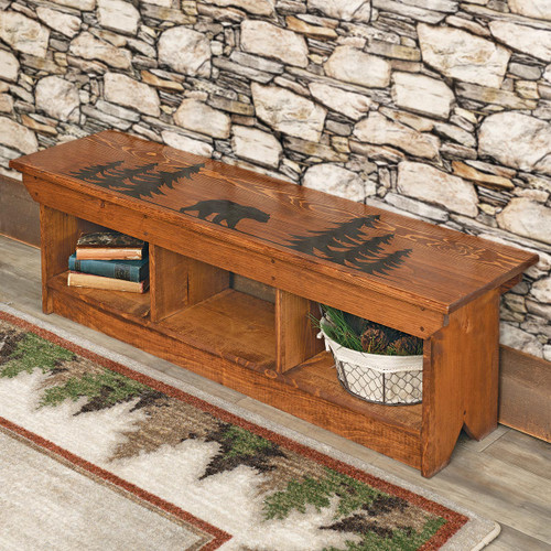 Woodland Bear Cubby Bench