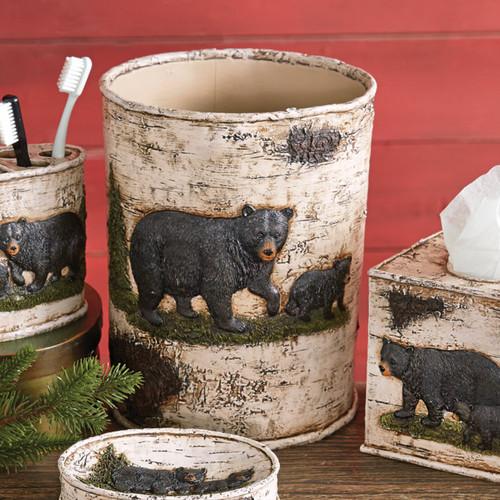 Woodland Bear Waste Basket