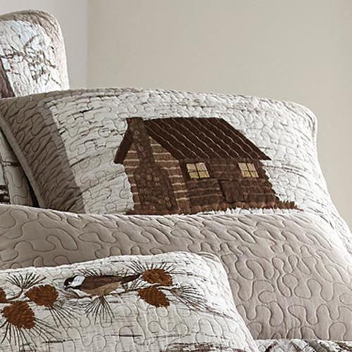 Woodland Birch Cabin Pillow - BACKORDERED UNTIL 10/20/2021