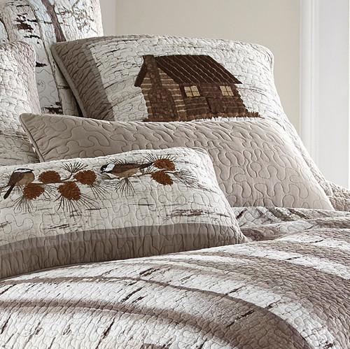 Woodland Birch Taupe Pillow