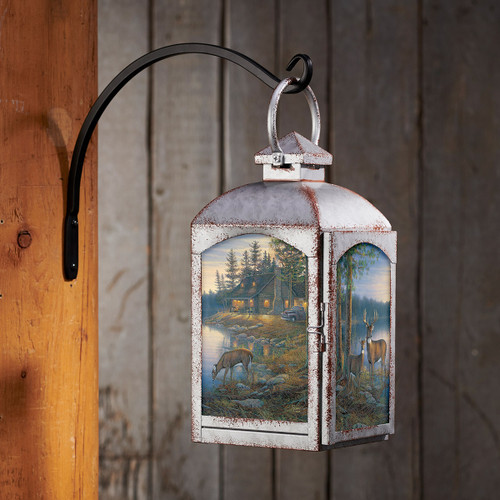 Woodland Cabin Lantern - Silver