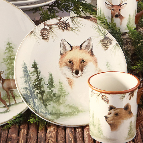 Woodland Friends Dessert Plates - Set of 4