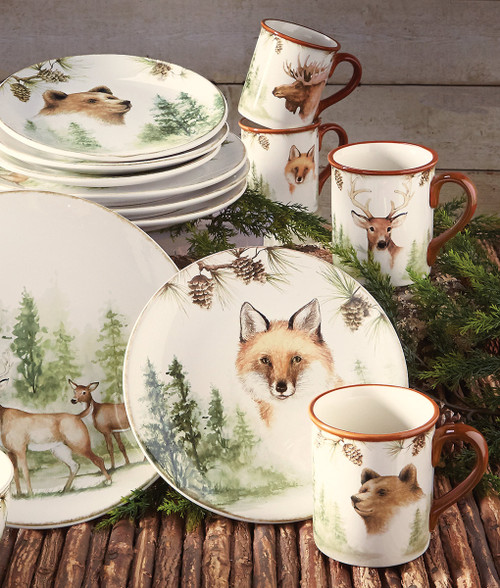 Woodland Friends Mugs - Set of 4
