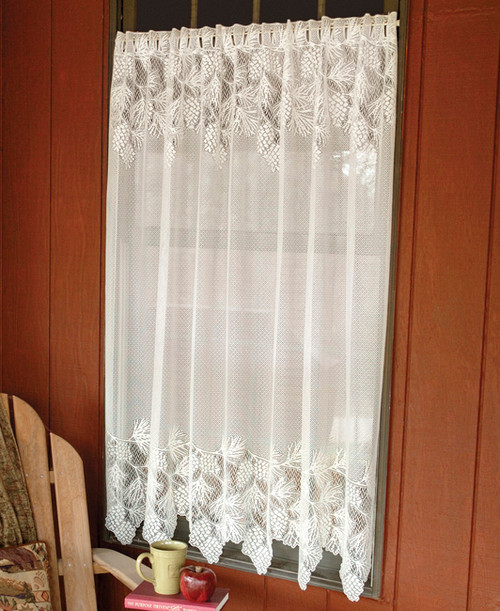Woodland Lodge Lace Window Panel - 63 Inch
