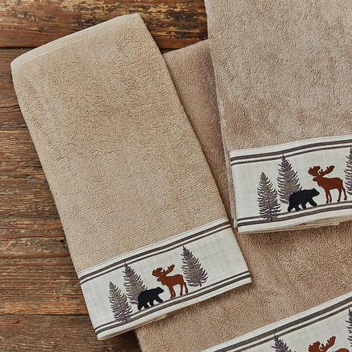 Woodland Moose & Bear Hand Towel