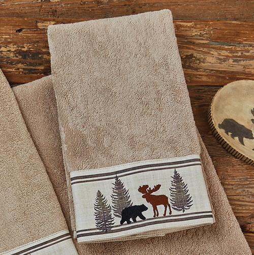 Woodland Moose & Bear Wash Cloth
