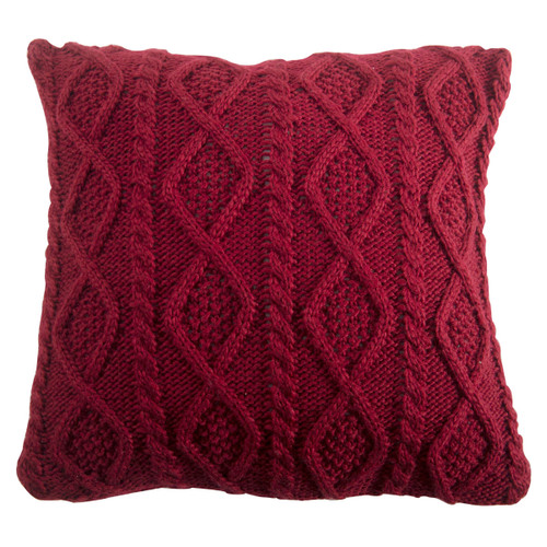 Woodland Plaid Cable Knit Pillow
