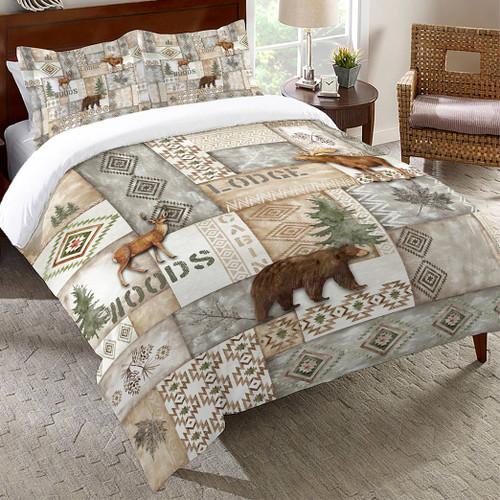 Woodland Trails Gray Comforter - King