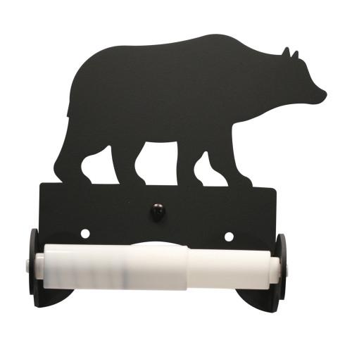 Wrought Iron Bear Toilet Tissue Holder