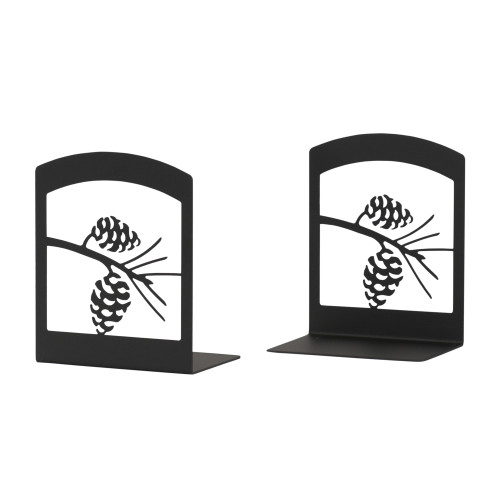 Wrought Iron Pinecone Bookends